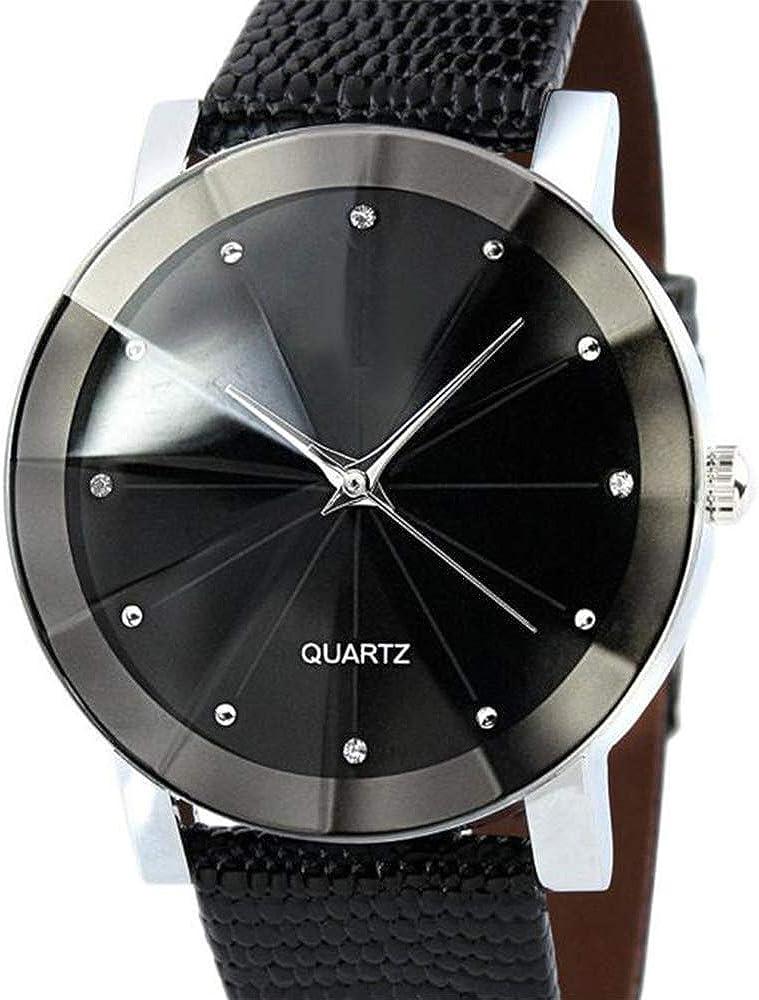 Moda Cuarzo Deporte Militar Dial de Acero Inoxidable Correa de Cuero Reloj de Pulsera Mujer Relojes Bajan KOL Sra. Diamante