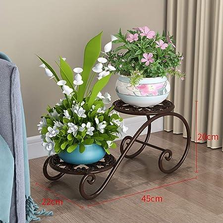 Puesto de plantas Soporte de flores for plantas de terraza de jardín, soporte de flores de