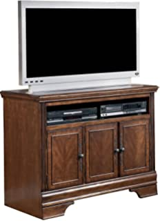 Ashley Furniture Signature Design   Hamlyn TV Stand   42 In   Modern  Styling   Dark