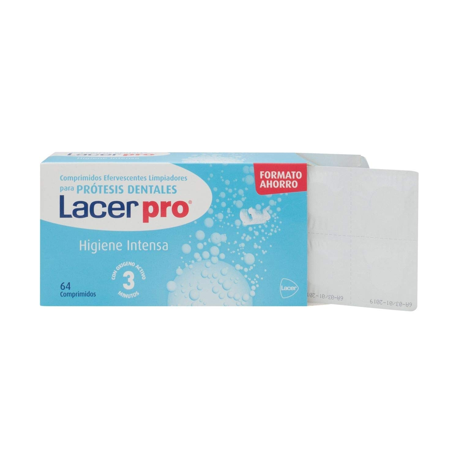Amazon.com : Lacer Pro Tabs 64 Tablets - Cleaning Tablets for Your Dentures - Natural Ingredients - Oral Care - Spain : Beauty