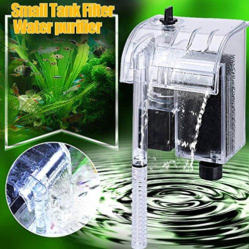 Rokoo Filtro de corriente del acuario bomba de agua de circulaci/ón de agua Tanque de peces mini dispositivo de filtro colgante externo