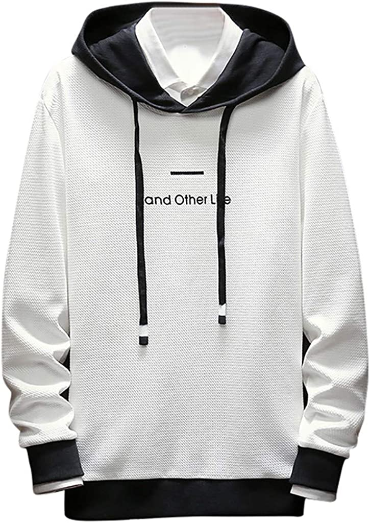 Letdown/_Men Hoodies Hooded Sweatshirt Men Big and Tall Graphic Printed Lightweight Autumn Japanese Style Pullover