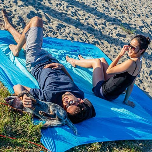 Amazon.com: Manta de playa grande azul de AIO- agua, arena ...