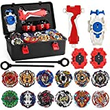 Toys : 3T6B Toys Portable case 12 New Swimming Spinner with 2 Turbo Blast Launchers, Gyro Rotating Pocket Box
