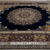 Yilong 9.2 x12.1  Oriental Rugs Classic Traditional Handmade Persian Big Medallion with Floral Pattern Hand Knotted...