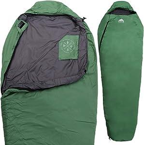 Tough Outdoors Warm Weather XL Mummy Sleeping Bag