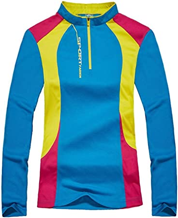 Camiseta deportiva para mujer Deportes de otoño al aire libre, senderismo Camiseta de manga larga de