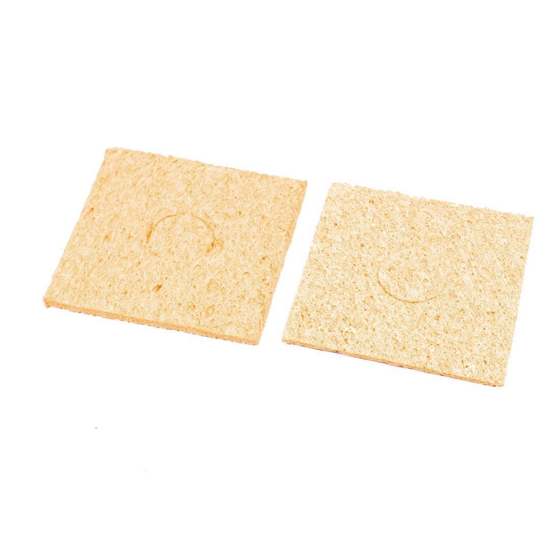 Amazon.com: eDealMax reemplazo DE 57 mm x 57 mm x 3 mm de soldadura de Hierro esponja de la limpieza del cojín Amarillo 10Pcs: Electronics