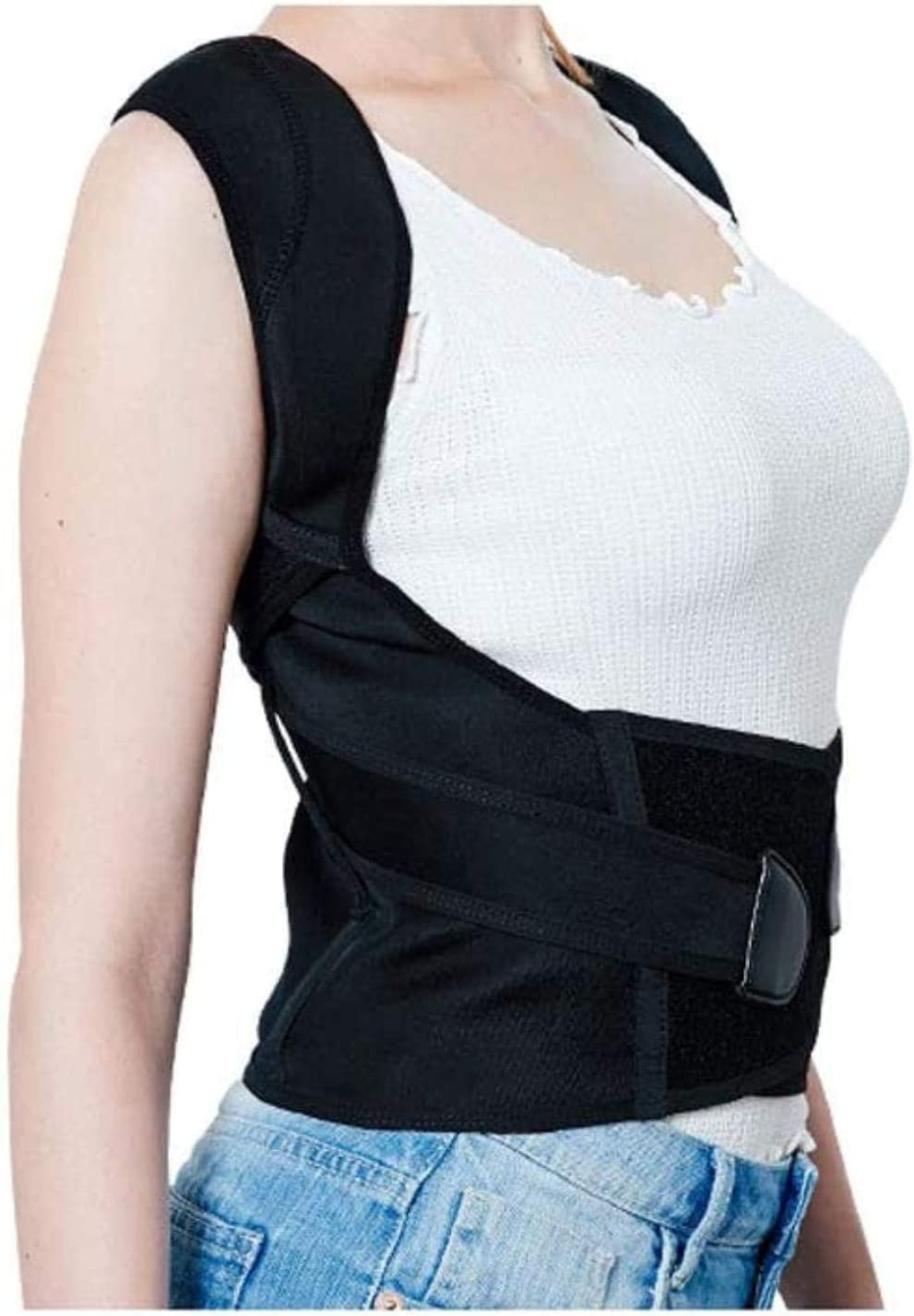 Soportes de hombro con cuello trasero Corrección jorobada infantil Cinturón Estudiante niño humano masculino y femenino Tronco Espalda Correa correctora de cifosis ( Size : L (waistline:60-70cm) )