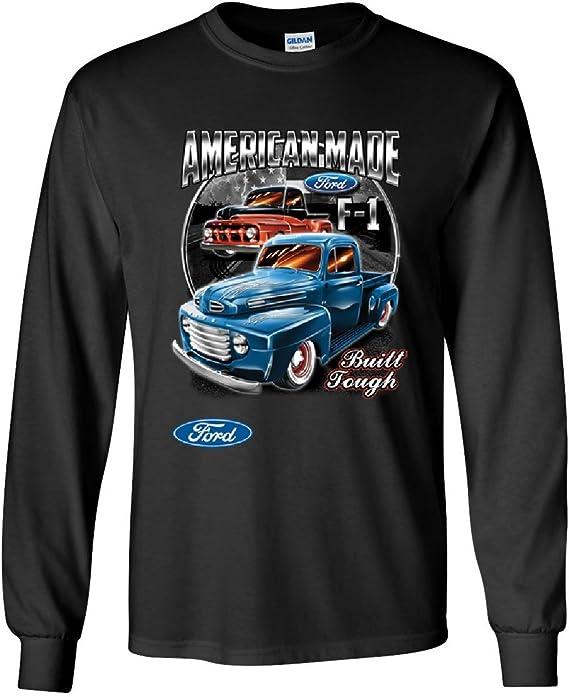 Ford Pickup Trucks F1 Youth T-Shirt American Made Hot Rod Built Tough Kids Tee