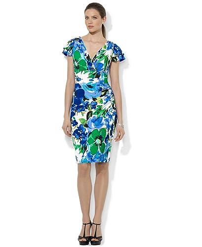 Lauren Ralph Lauren Flutter-Sleeve Matte Jersey Dress (10)