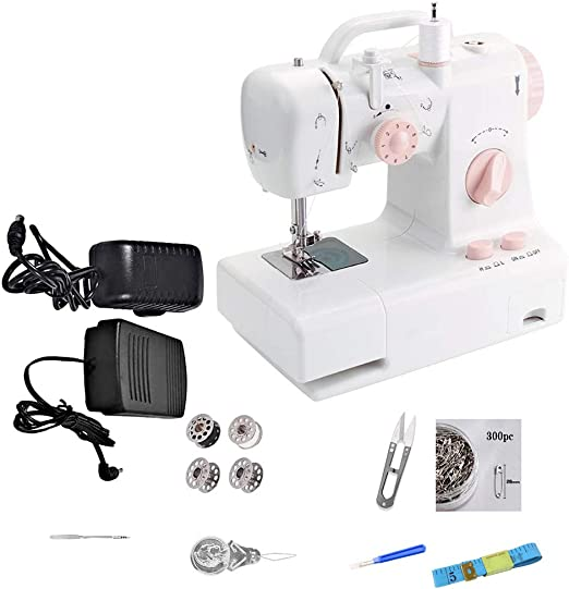 Mini máquina de coser eléctrica, portátil multifunción del hogar ...