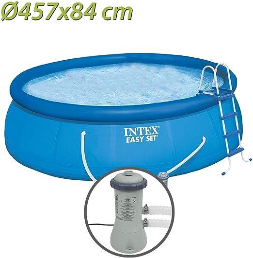 Intex Easy Set Círculo 9792L Azul - Piscina (Círculo, 9792 L, Azul ...