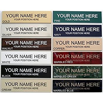 Name Plate Choose Color 2 x 8 - Laser Engraved - Customize