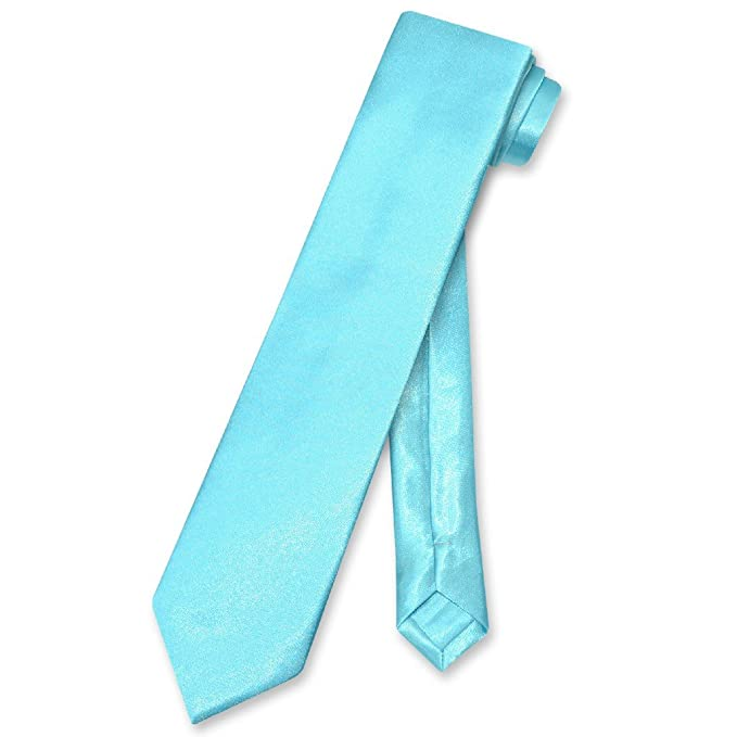 URATOT 6 Pack Boys Satin Zipper Neck Tie Pre-tied Adjustable Neck Strap Tie