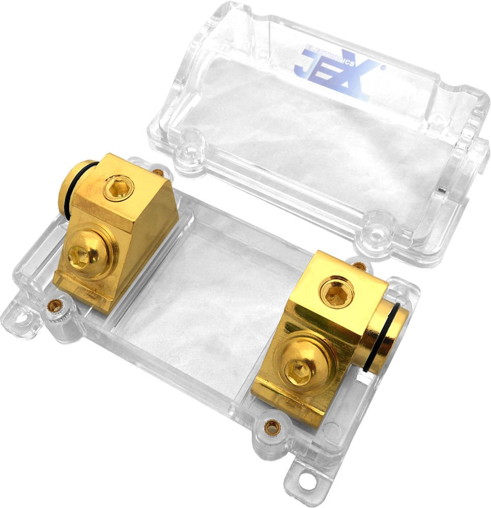 Jex Electronics ANL In-Line Fuse Holder upto 1/0GA Stereo/Audio/Car/RV/Boat + ANL Fuse 80A-300A by Jex Electronics