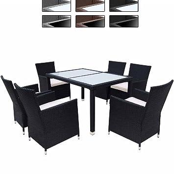 Tavoli E Sedie Per Giardino.Miadomodo Salotto Giardino Esterno Set Tavolo E Sedie Giardino In