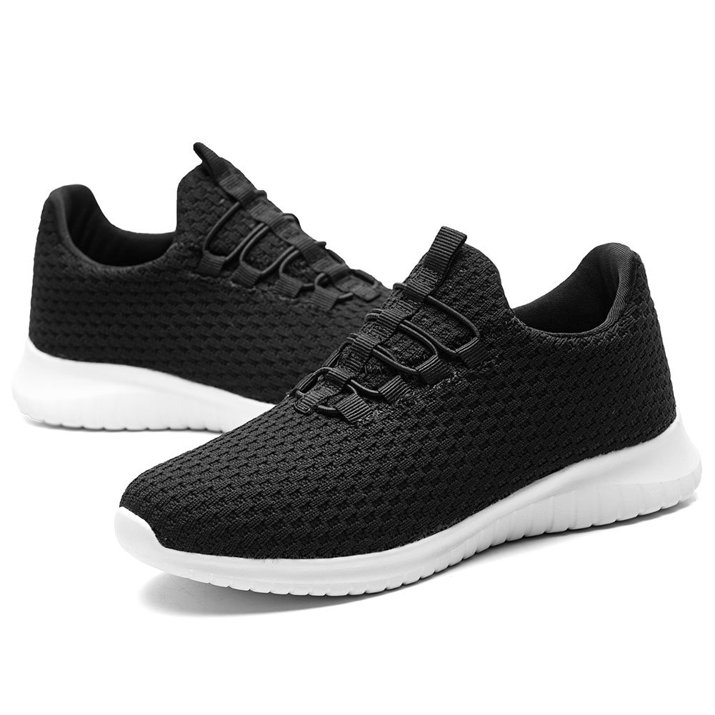 KONHILL Women's Lightweight Athletic Running Shoes Walking Casual Sports Knit B(M) Workout Sneakers B07BS9S24M 5 B(M) Knit US|2106 Black beb091