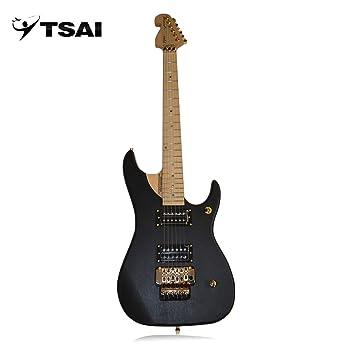 SY-F-005 Guitarra Eléctrica Alder Wood 22 Frets Doble Pickups Instrumentos Musicales (Color: negro): Amazon.es: Instrumentos musicales