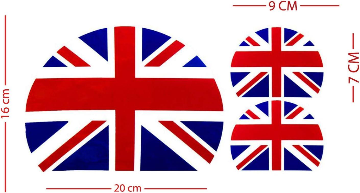 Kit adesivi Vespa bandiera inglese 3 pezzi