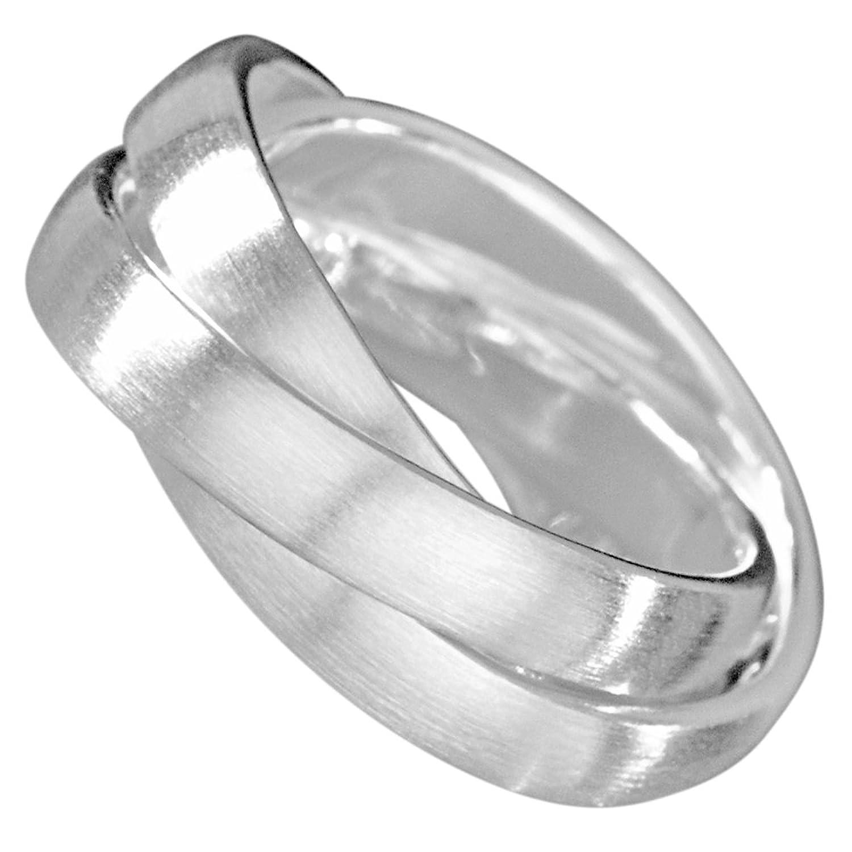 Vinani 3er Ring massiv glänzend 3 Ringe beweglich Sterling Silber