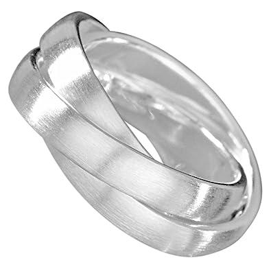 Ringe silber  Vinani 3er Ring massiv mattiert 3 Ringe beweglich Unisex Sterling ...