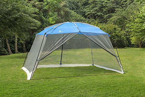 ALPHA CAMP Screen House & Room Canopy Tent with Mesh Side Walls and Carry Bag – 13'X9′, Blue