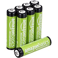 8-Pack AmazonBasics AAA Rechargeable Pre-charged Batteries