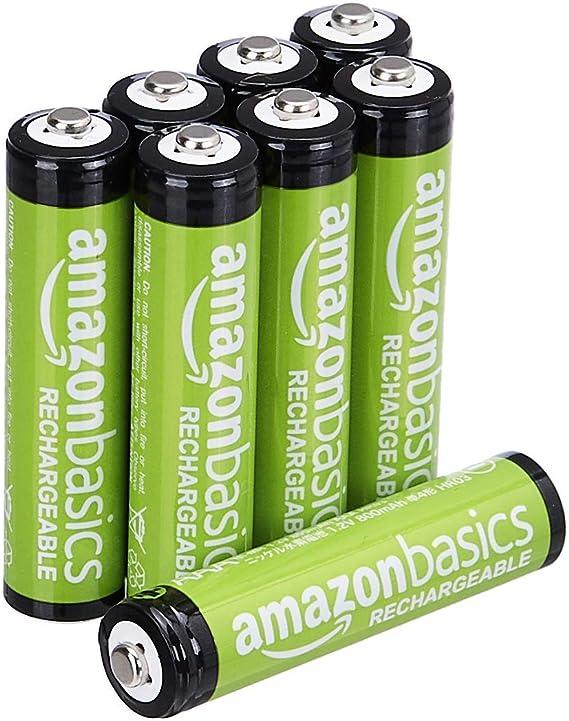 Amazon Basics Pilas AAA recargables - paquete de 8