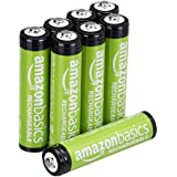 AmazonBasics AAA Rechargeable Batteries (800 mAh), Pre-charged - Pack of 8