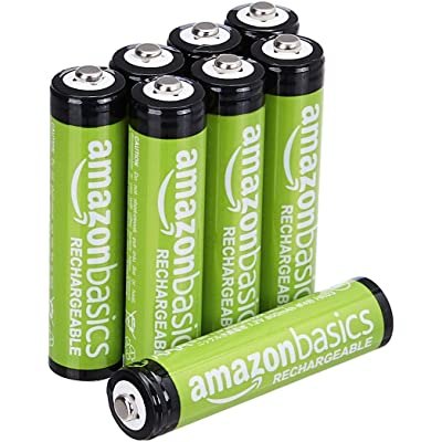 AmazonBasics - Pilas AAA recargables, precargadas, paquete de 8 (el aspecto puede variar)