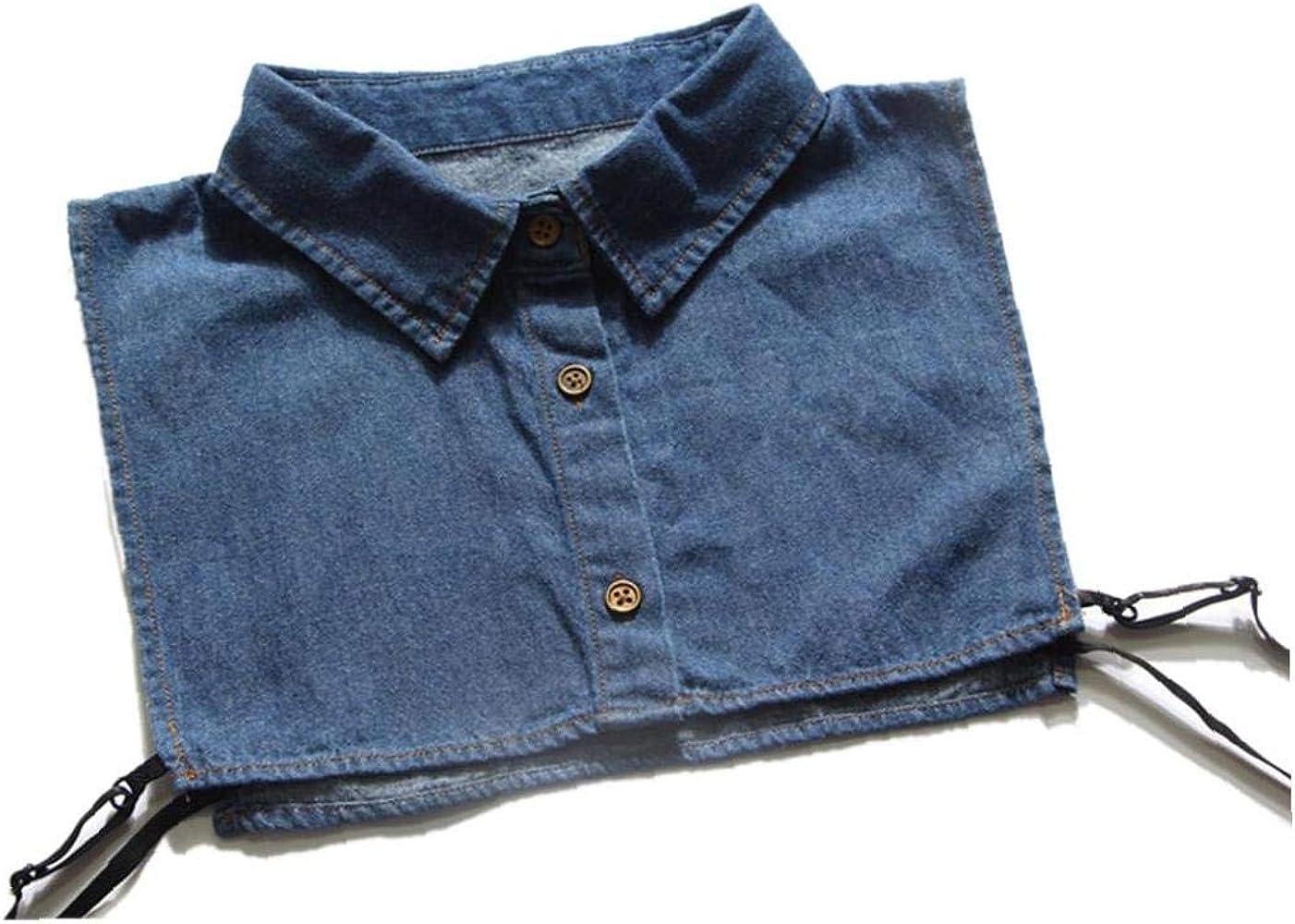 Aisoway Camisa Vaquera Falso Cuello Desmontable Collar Falso Del Collar De La Solapa De La Blusa Collares Falsos Para Mujeres: Amazon.es: Ropa y accesorios