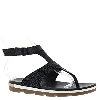 5f5478f0a0be Sorel Women s Torpeda Ankle Strap Black White Sandal