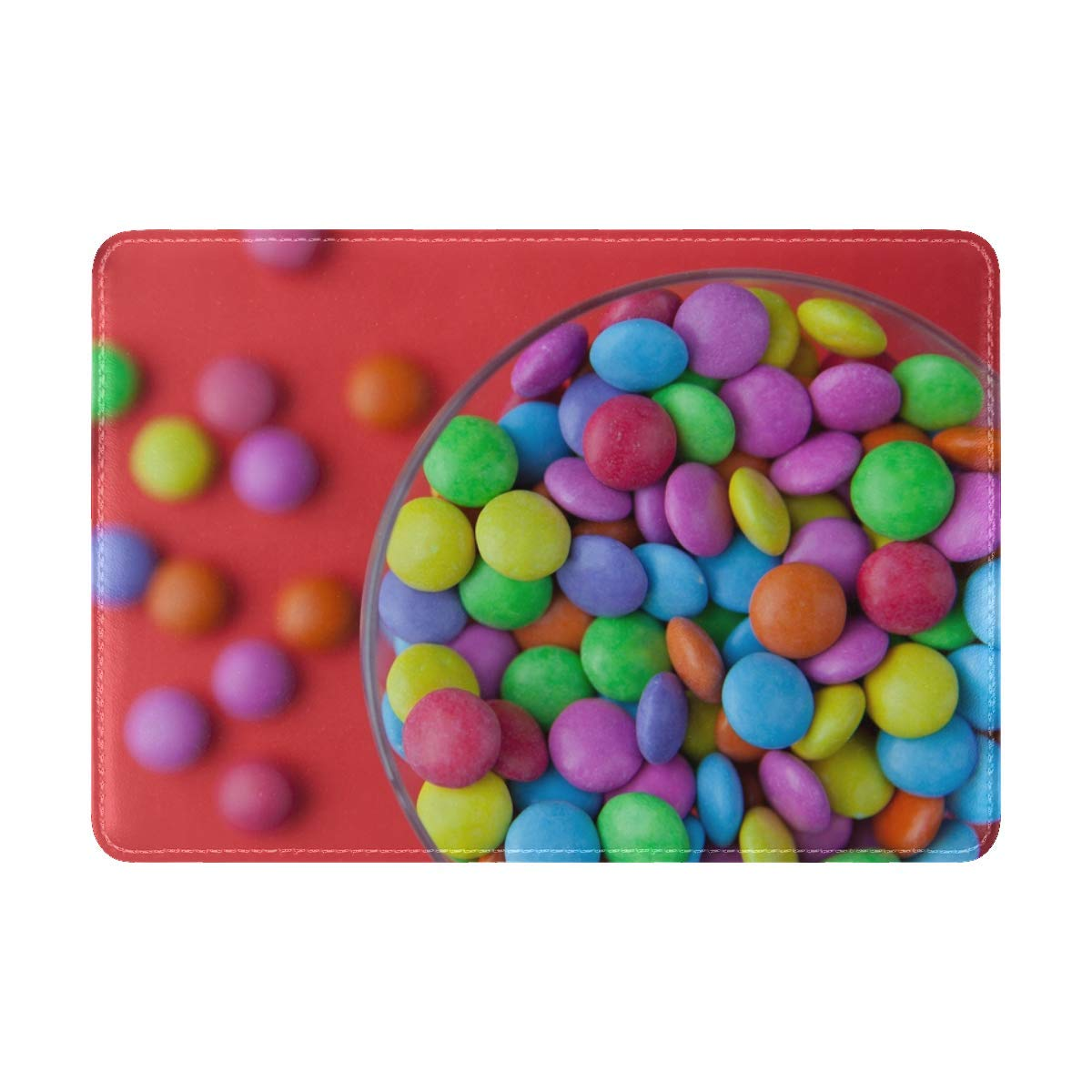 JiaoL Candy Colorful Bowl Leather Passport Holder Cover Case Travel One Pocket
