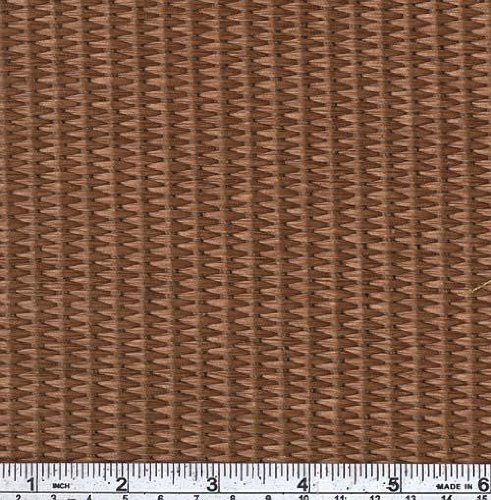 62'' Wide Raffia Rattan Weave Brown Fabric By The Yard
