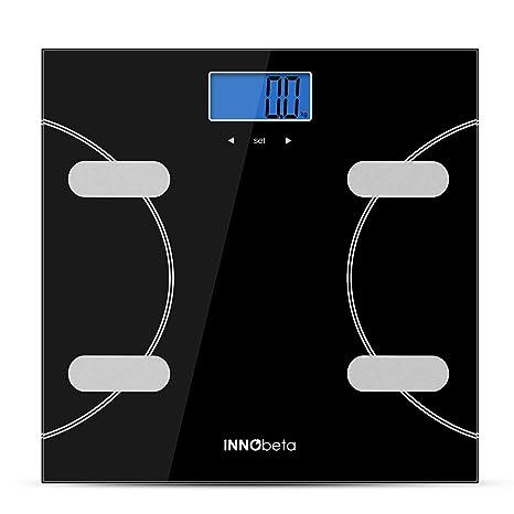 INNObeta Fitfy Basic Basculas de Baño Inteligente báscula grasa corporal Pesos de Baño digital con dibujo