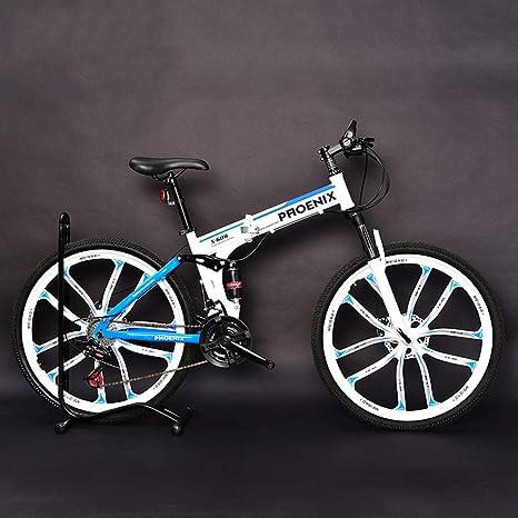 AISHFP Bicicleta de montaña Plegable para Adultos de 26 Pulgadas ...