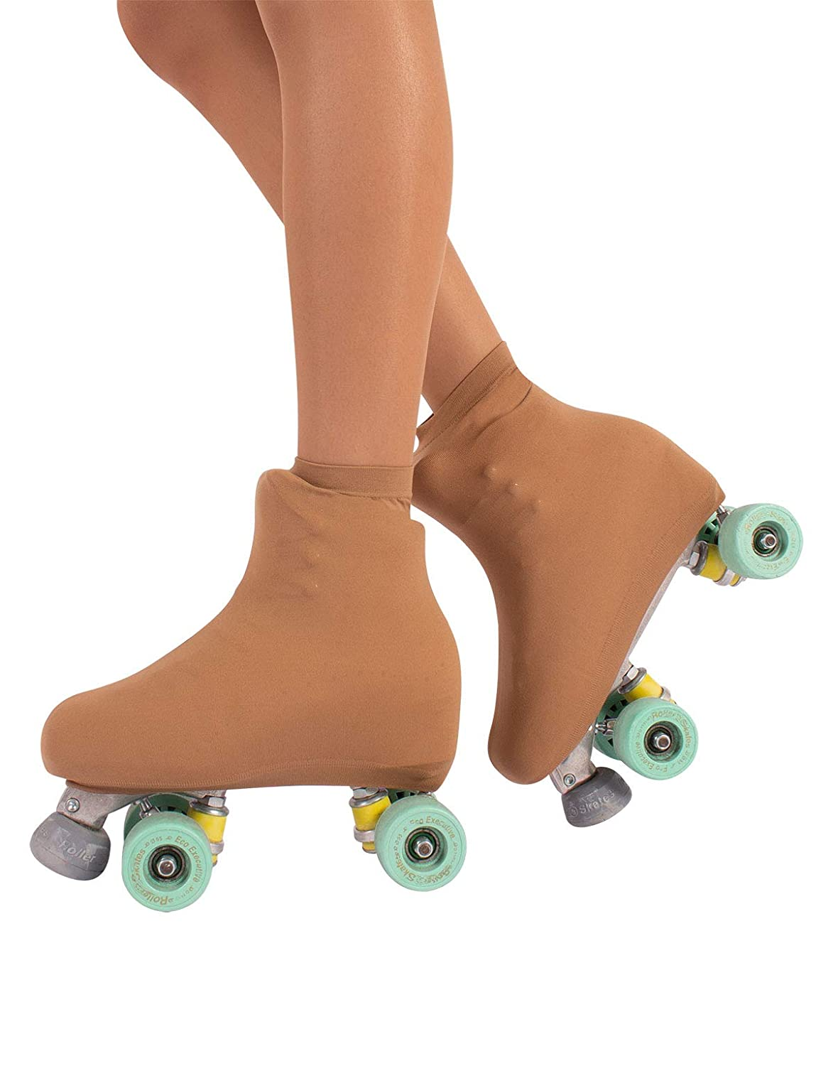 Cover Skates | Skate Boot Covers | Roller and Ice Skating Wear Woman and Girl | 70 DEN | Black, Skin | 10-8 | Made In Italy 11001