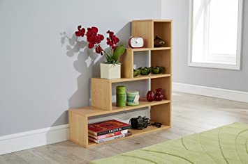 Gentil Step Storage Shelf Multi Tier Understairs Shoe Shelving Unit (Beech)