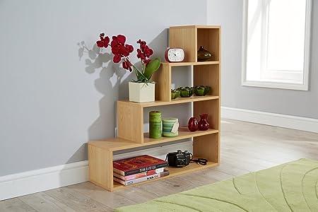 Step Storage Shelf Multi Tier Understairs Shoe Shelving Unit (Beech)
