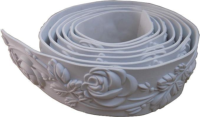 "Ceiling Flexible Mouldings Wall Trim Focal Point Edge Furniture Home Decorative Waist Line 2.36"" (6cm) x 115"""