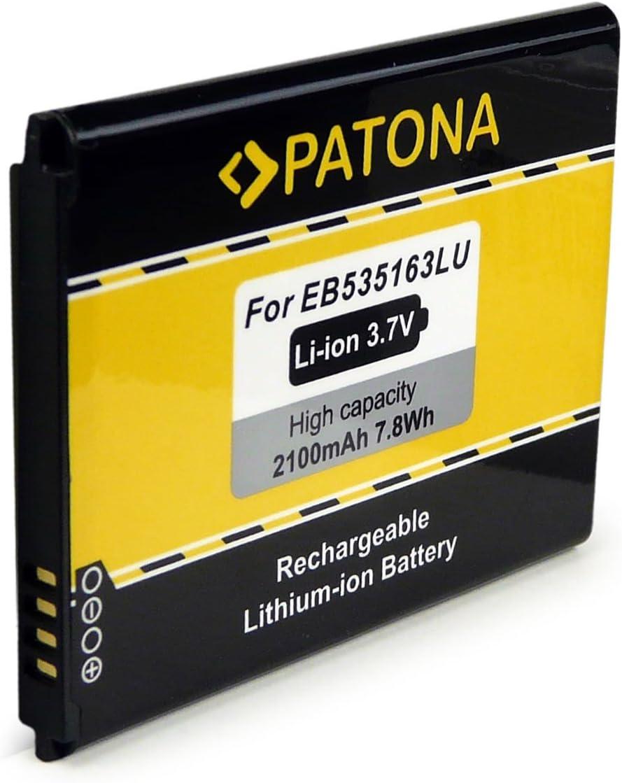 PATONA Batería compatible con Samsung EB535163LU [ Li-Ion, 2100mAh, 3.7 V ]