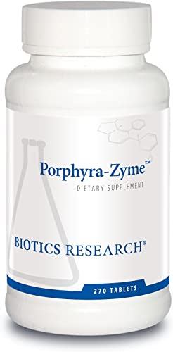 Biotics Research Porphyra Zyme Chlorophyll Concentrate. Heavy Metal Binding Capacity. Detoxification. 270Tab