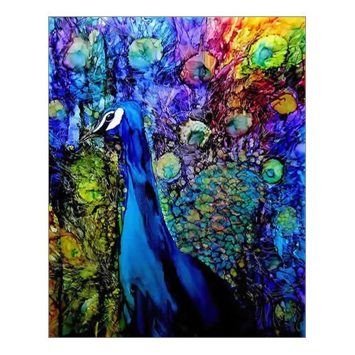 Custom Beautiful Modern Art Abstract Painting Peacock Canvas Print 16