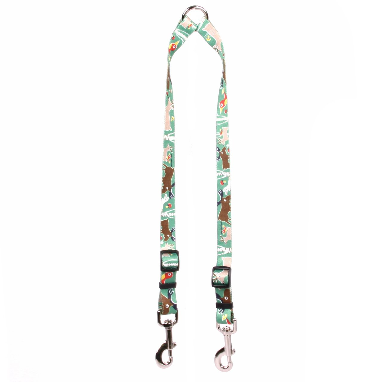 Yellow Dog Design Woodland Friends Coupler Dog Leash-Size Medium-3/4 inch Wide and 12 to 20 inches Long by Yellow Dog Design