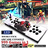 FUT Ultra Slim Metal Double Joystick and Buttons Arcade Game Console, 986 Classic Games Machine 2 Players Pandoras Box Plus, For Arcade Joystick Windows PC & TV VGA HDMI Output