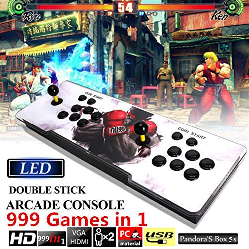 FUT 999 In 1 Pandora Box, Supprot HDMI&VGA Output Classic Double Stick Arcade Console Joystick Video Game, Relaxing Tap Intellectual Resources Games Best Gift for Children Friend (De Fut Videos)