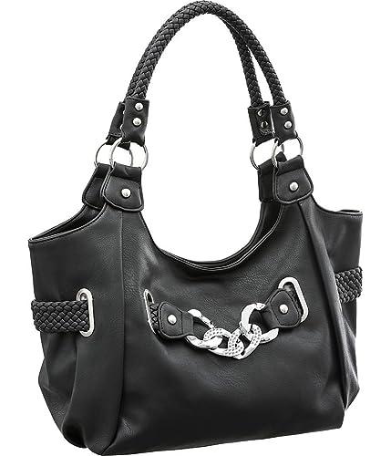 Amazon.com  Laurel Sunset Lola Black Large Hobo Shoulder Bags  Shoes 223e6a90b8770