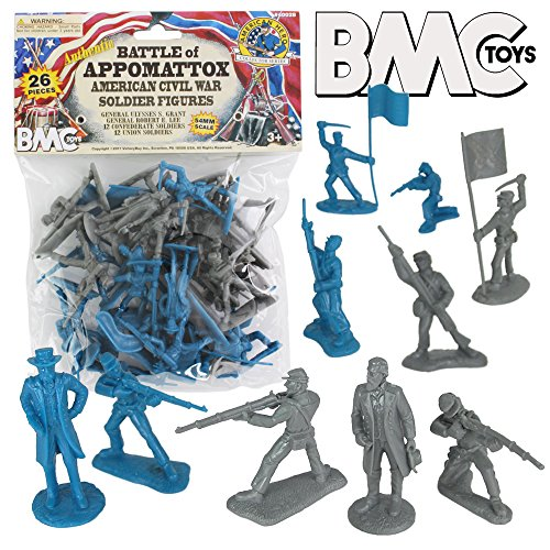 Figure Plastic War (BMC Civil War Plastic Army Men - 26pc Battle of Appomattox Soldier Figures)