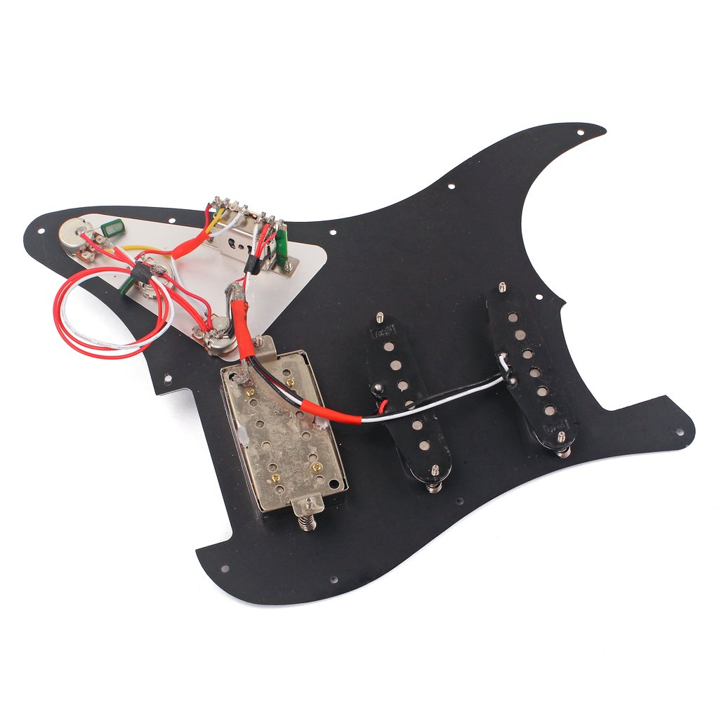 Durable Loaded 3-Ply Anti-scratch Plate Pickguard Set for ST SG Electric Guitar Musical instrument Parts Non-brand